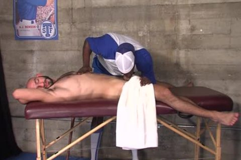 Buff darksome Masseur poke