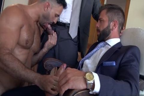 Muscle gay 3some With sperm flow