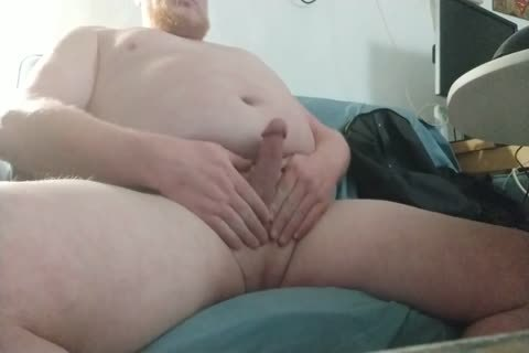chubby, bi-raunchy, Ginger Bear Masturbates And sperm - clip 10